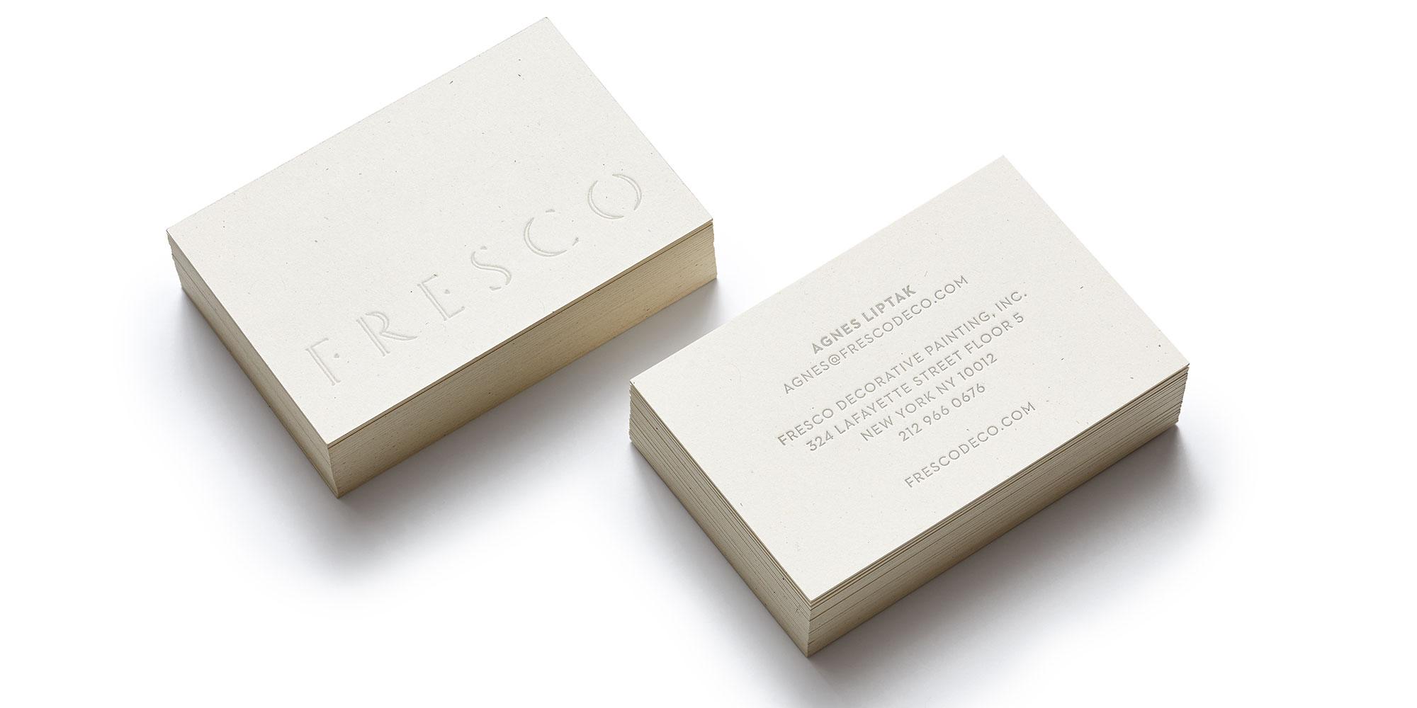 Fresco Business Cards