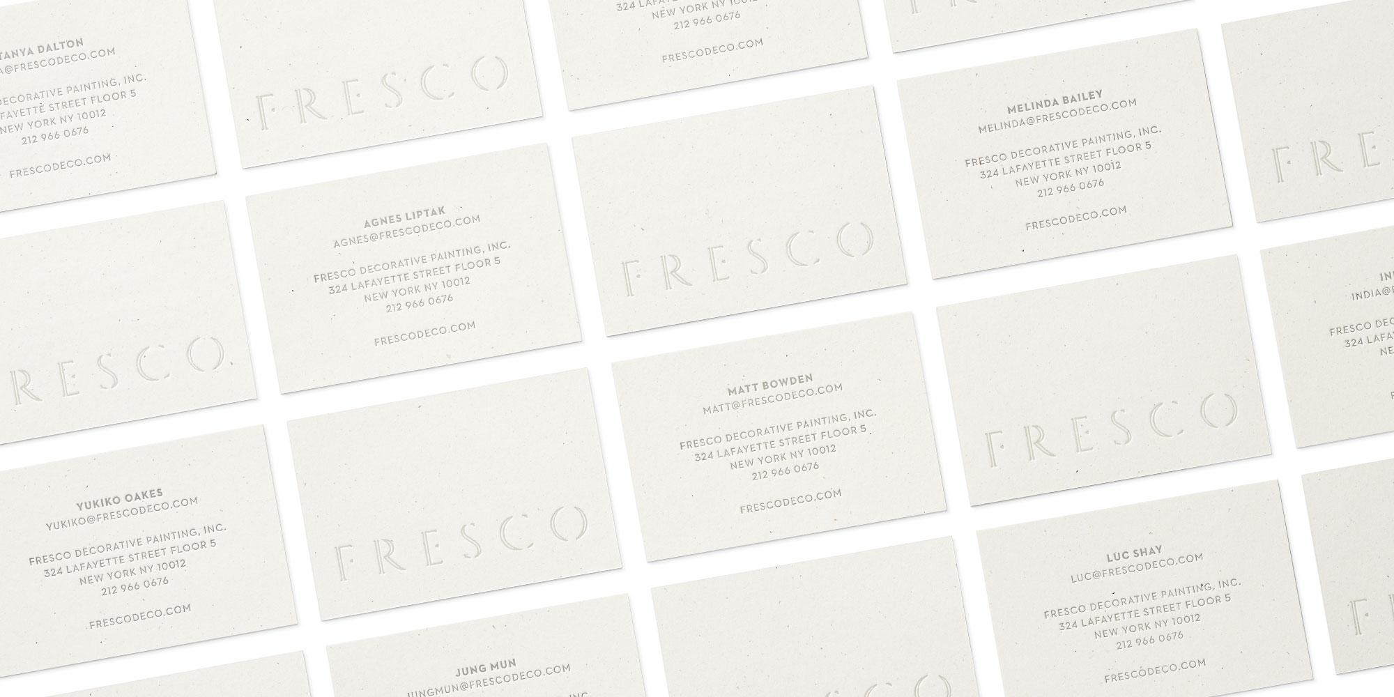 Fresco Business Cards Grid
