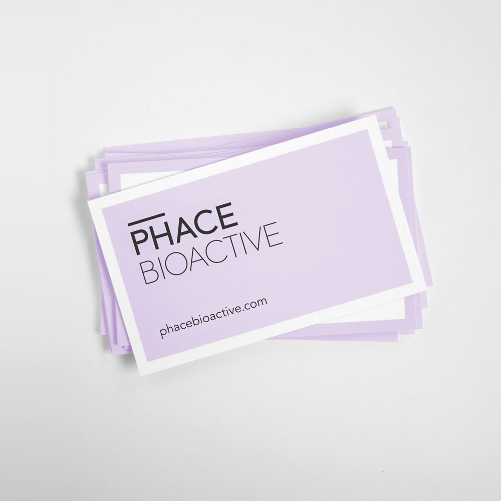 Phace Bioactive Business Card