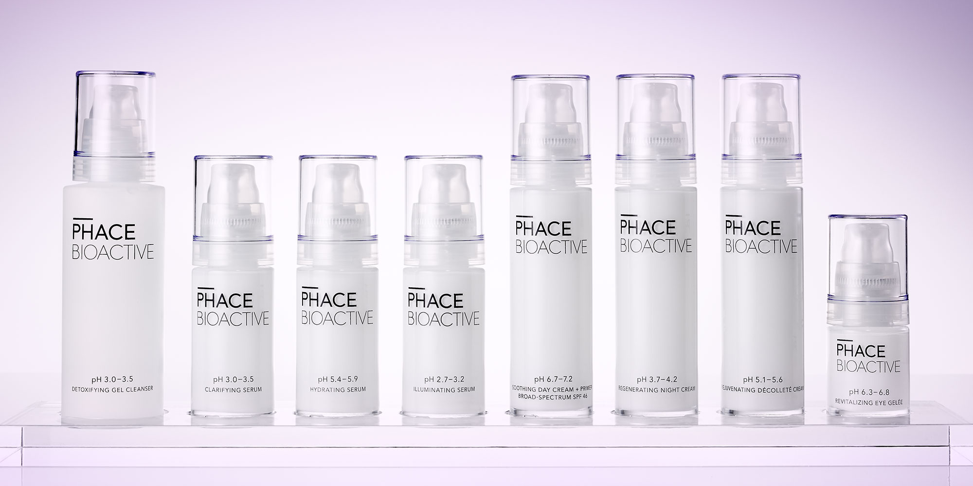 Phace Bioactive Primary Packaging Lineup