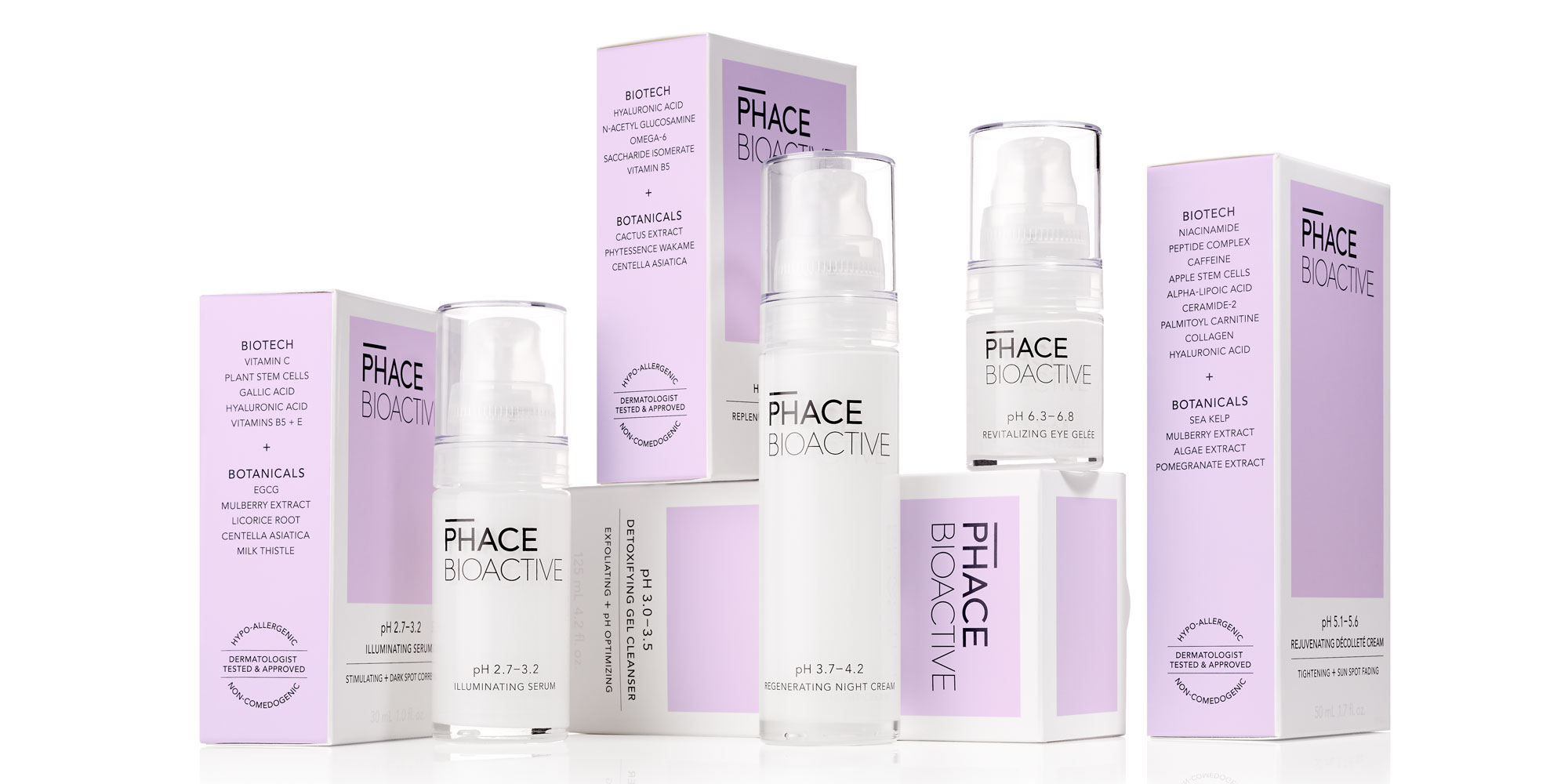 Phace Bioactive Primary Secondary Lineup