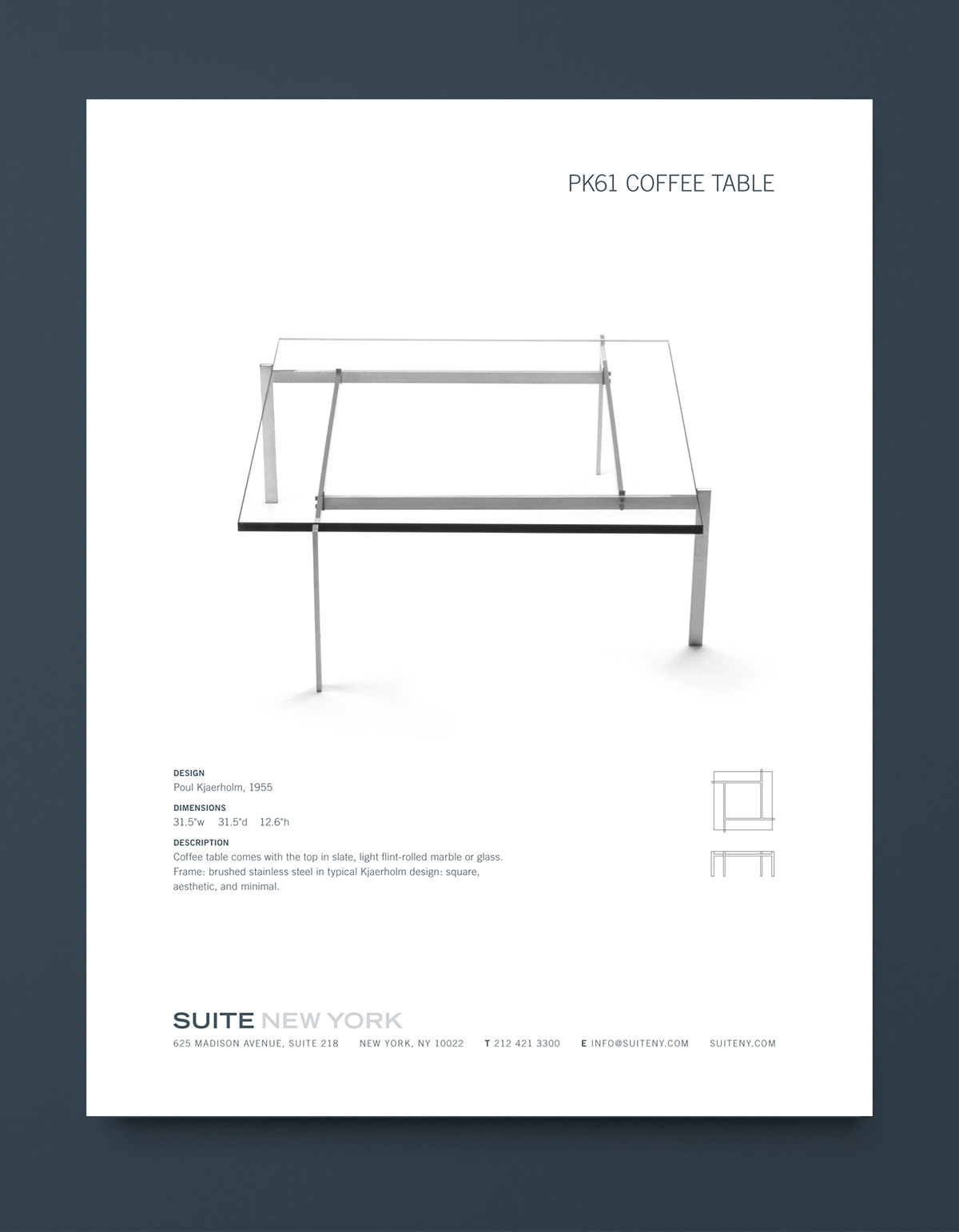 Suite NY Catalog Table