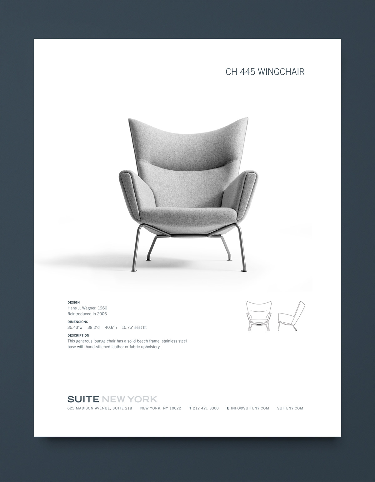 Suite NY Catalog Wingchair