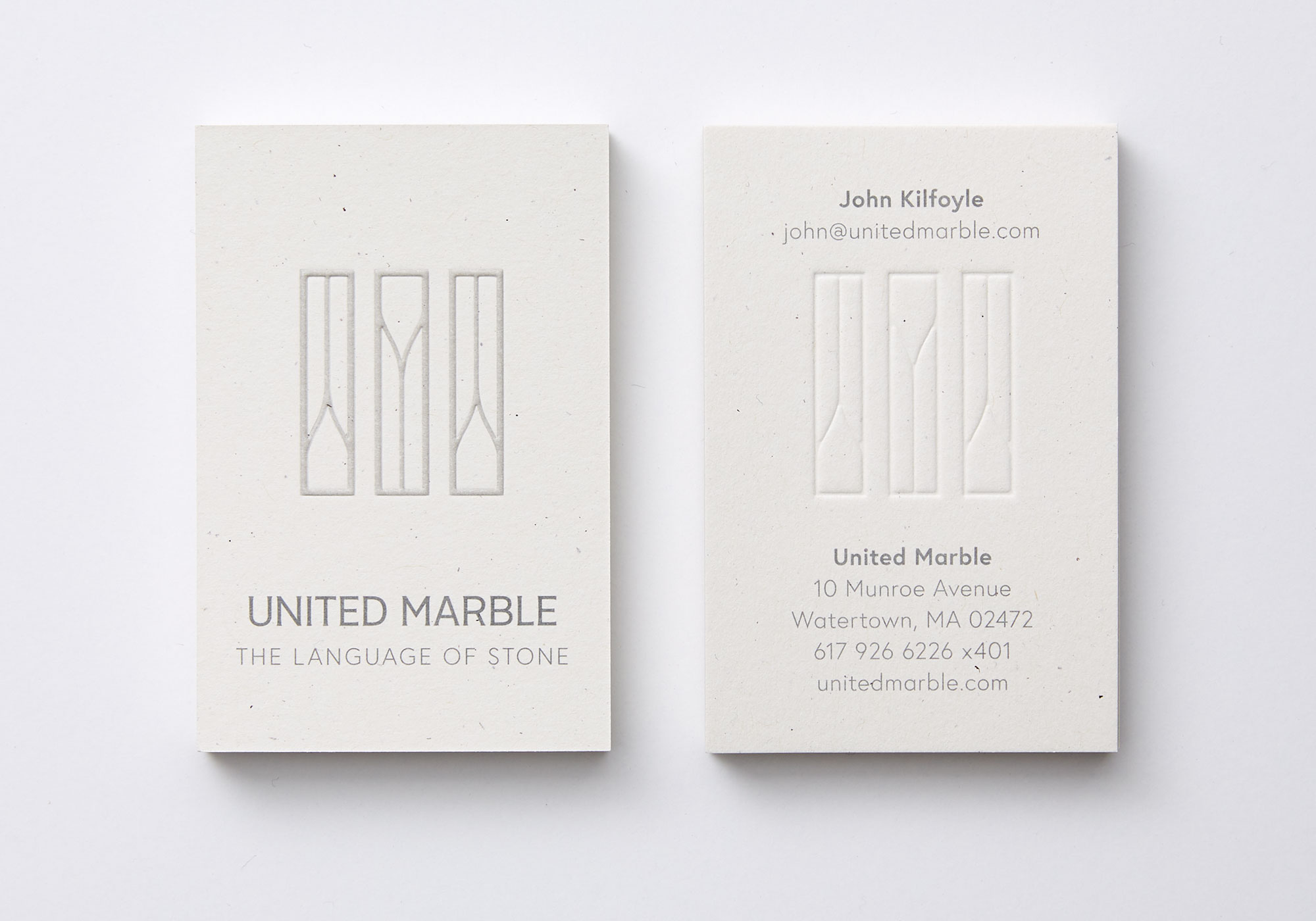 United Marble Business Cards