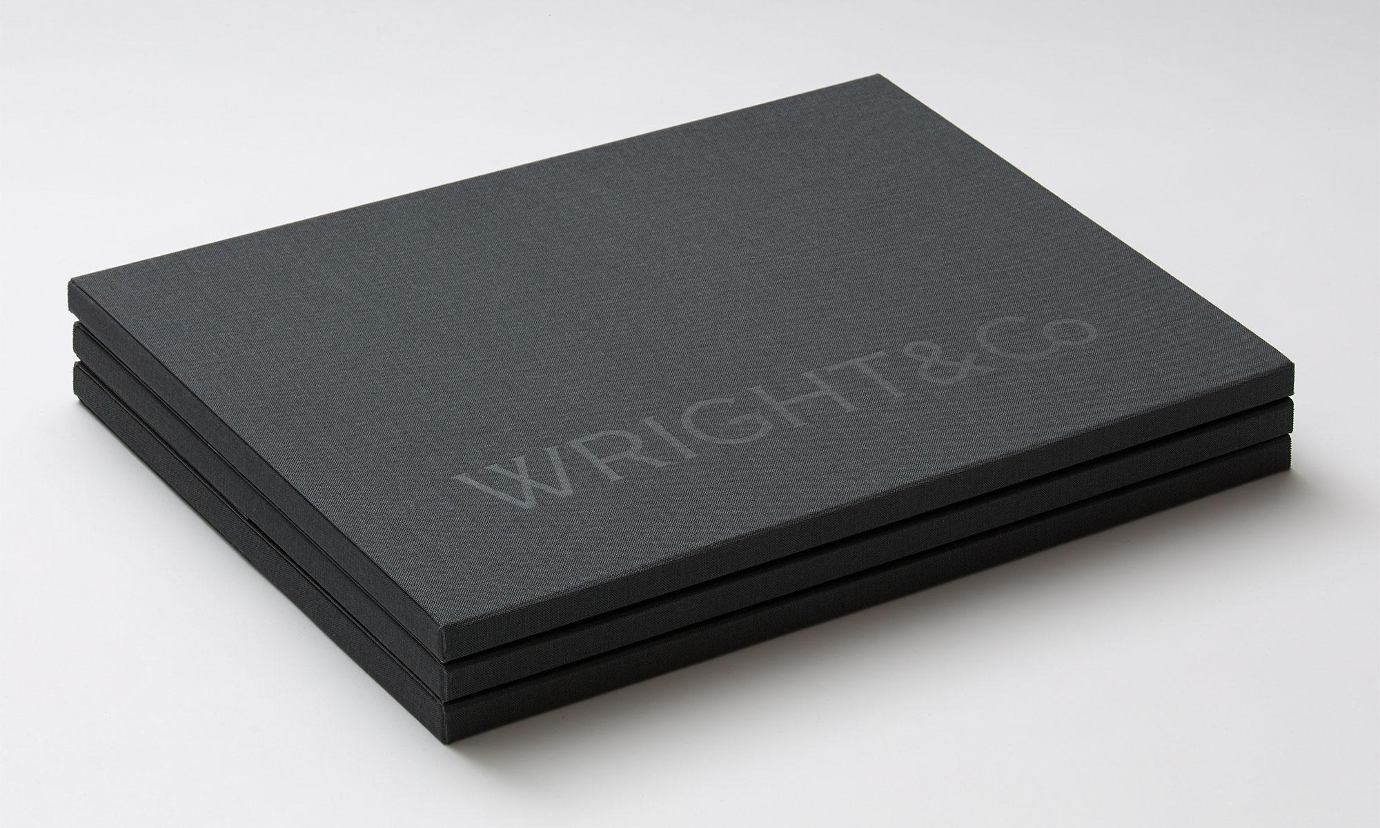 Wright&Co. Portfolio folder stack