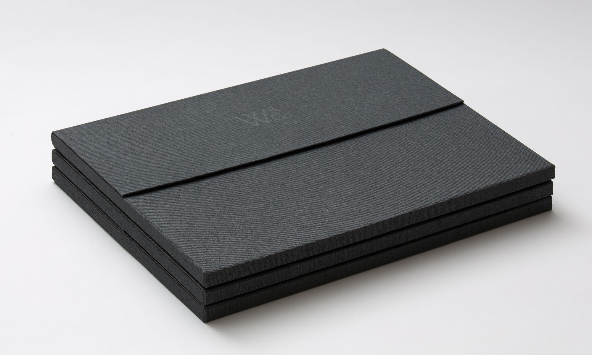 Wright&Co. Portfolio folder closed