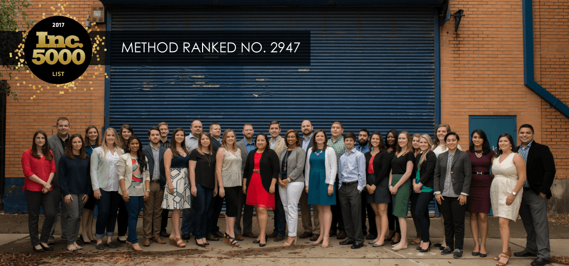 Method Architecture Named to 2017 Inc. 5000 List of America's Fastest Growing Private Companies