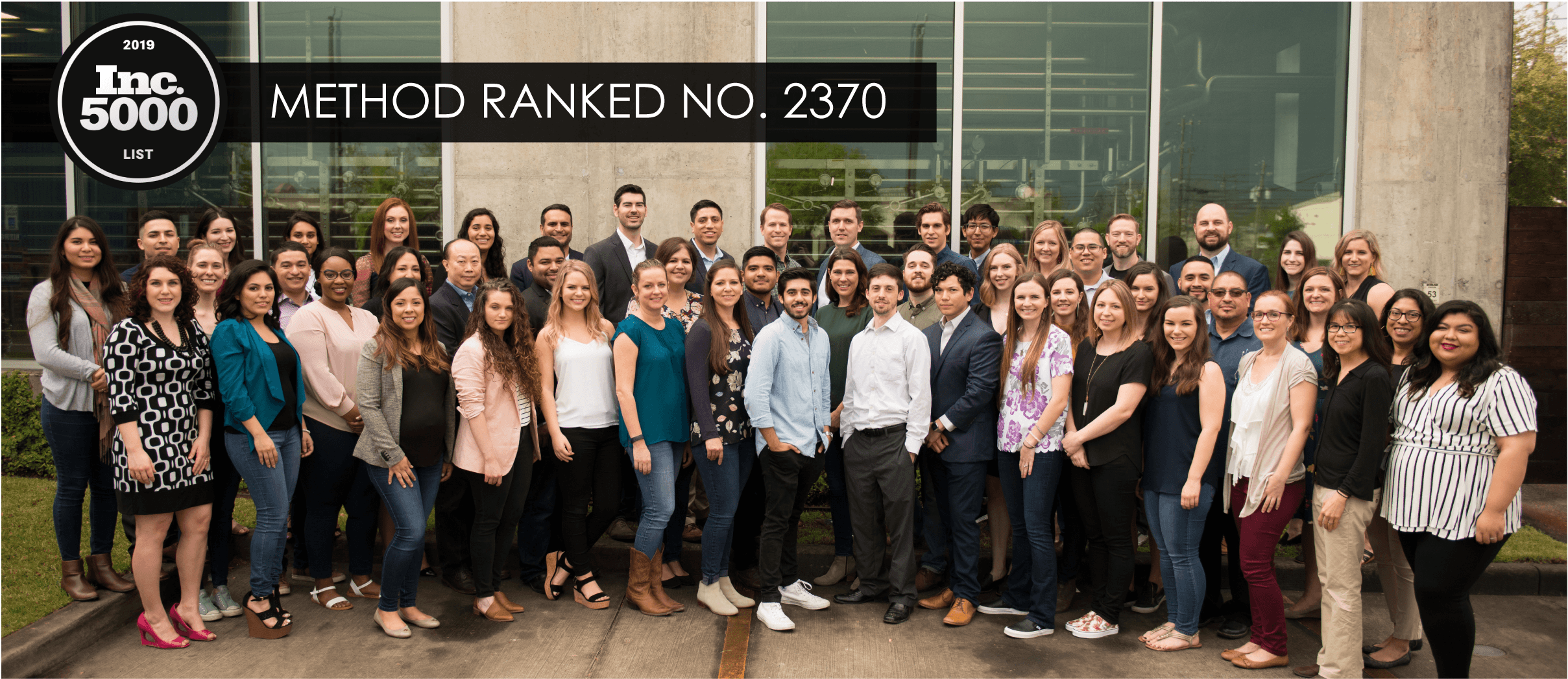 Method Architecture Ranked 2370 for 2019 Inc. 5000 List of America's Fastest Growing Private Companies
