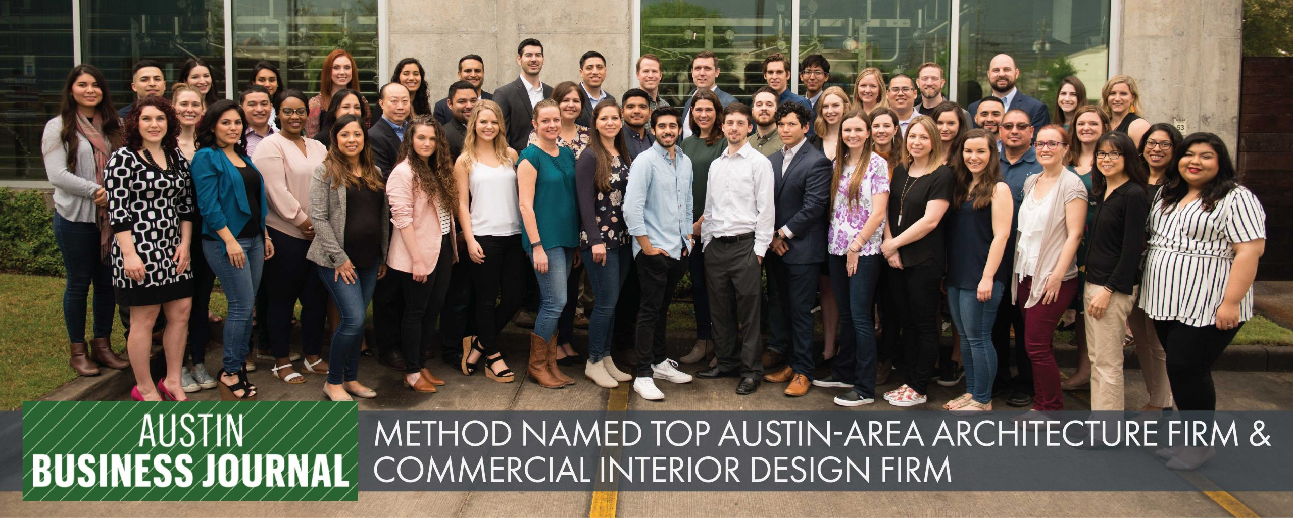 Method Architecture Named Top Austin-Area Architecture Firm and Commercial Interior Design Firm