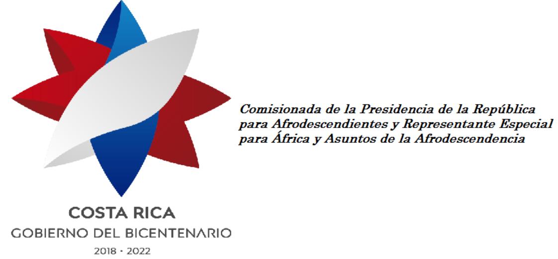 Costa Rica: Despacho del Comisionado de Asuntos de la Afrodescendencia de la Presidencia de la República
