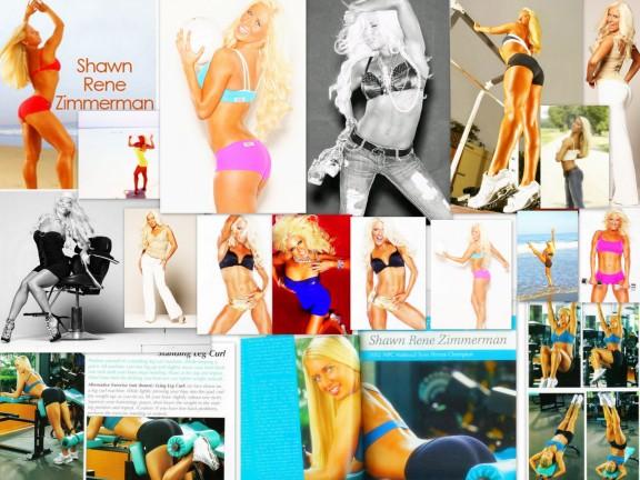 Shawn Rene Zimmerman Health Fitness Cover Model Fitness Modeling Magazine Cover
