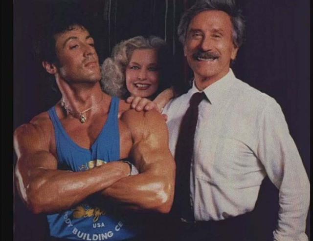 Bodybuilding-boxe-Cinema-au-Gold-Gym-Sylvester-Stallone-Betty-Weider-et-Joe-Weider