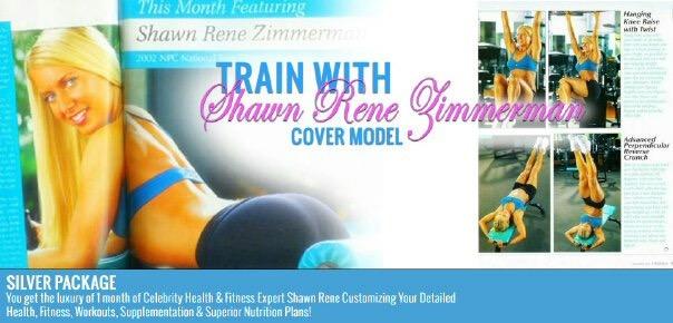 Shawn rene zimmerman health fitness cover model FitnessRX women magazine Nike women blonde hot athletes