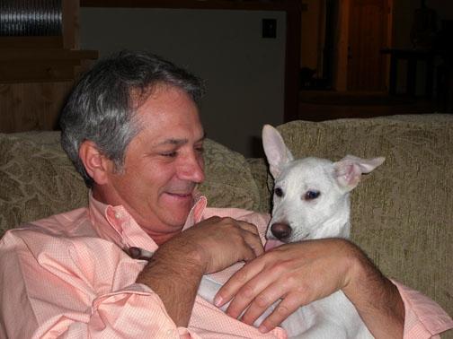 dan and little dog