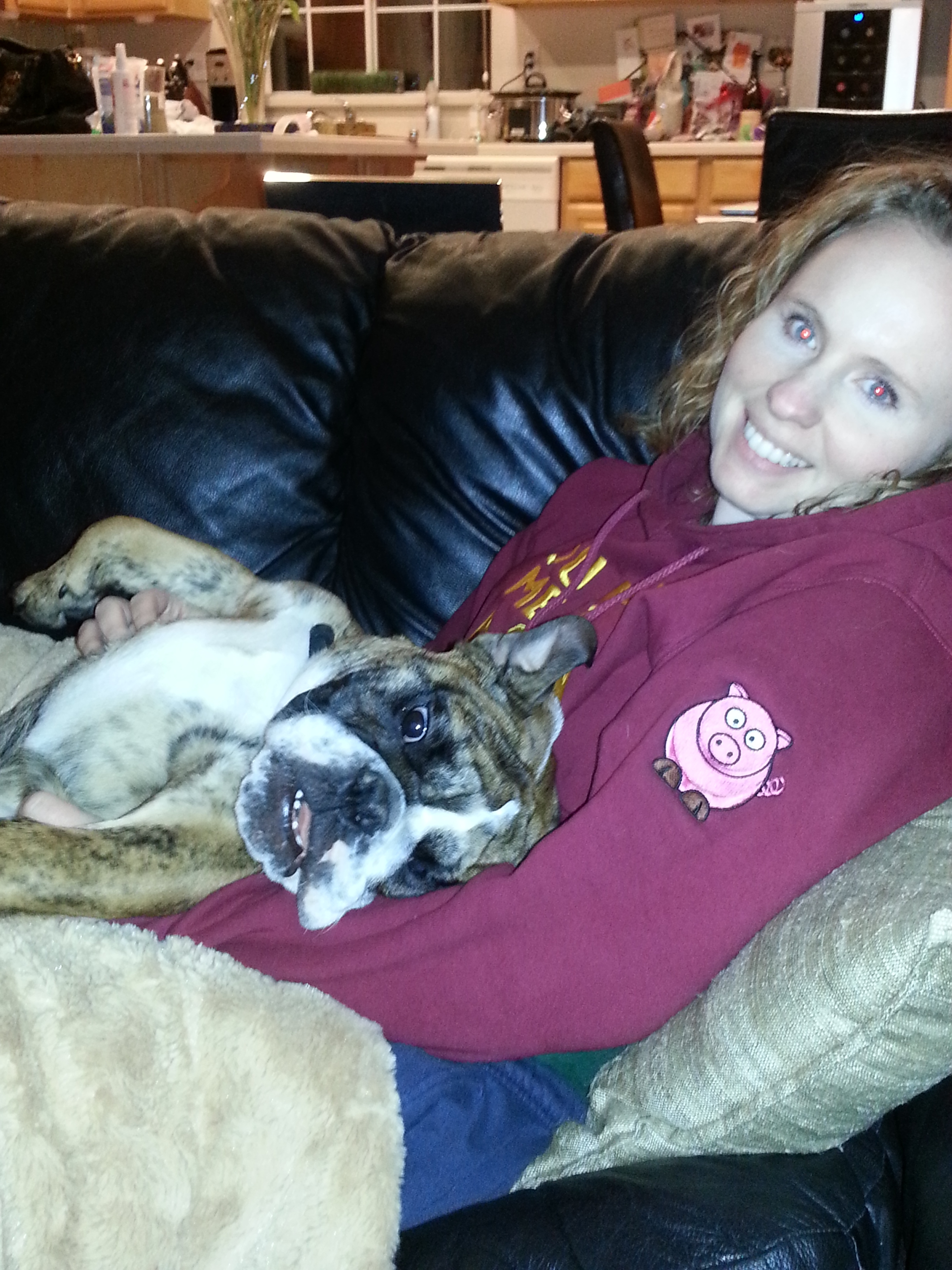Rocky and mommy