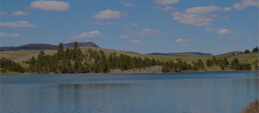 Campground in Lake Oahe North Dakota