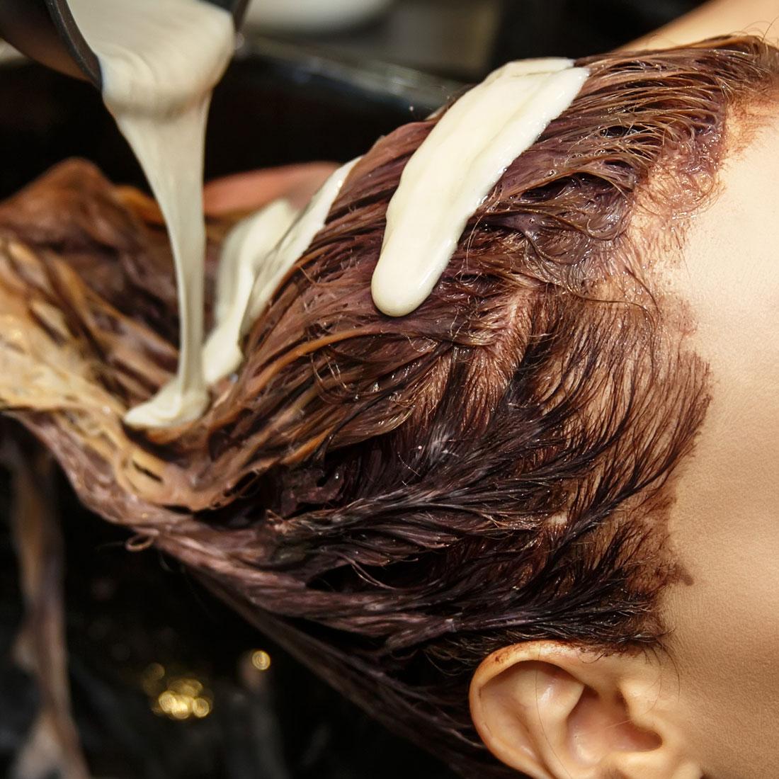 Adding Dye to Hair