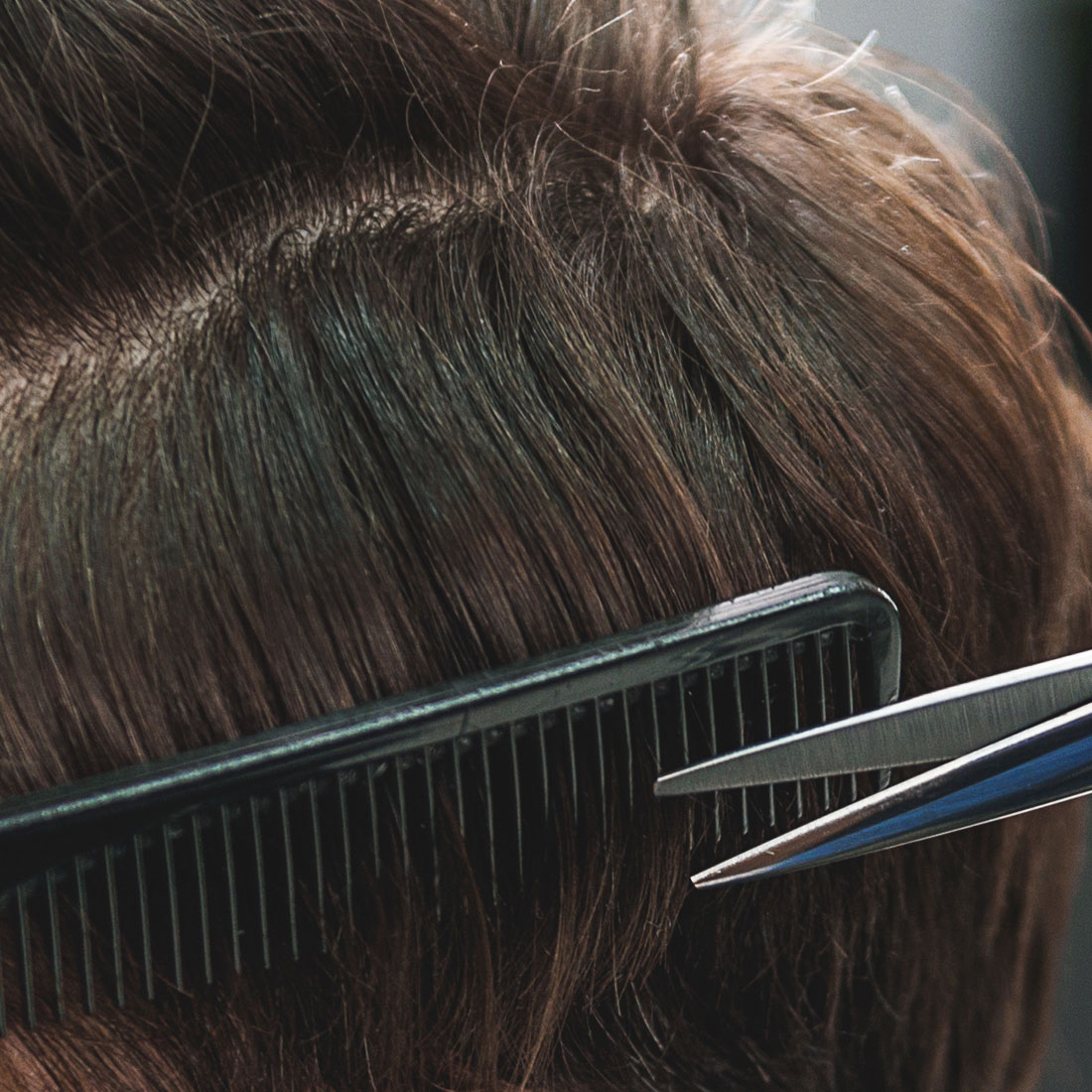 Men's Haircut with Scissors