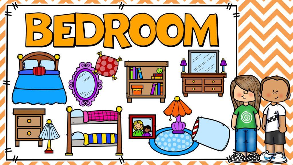 cosas del dormitorio en ingles