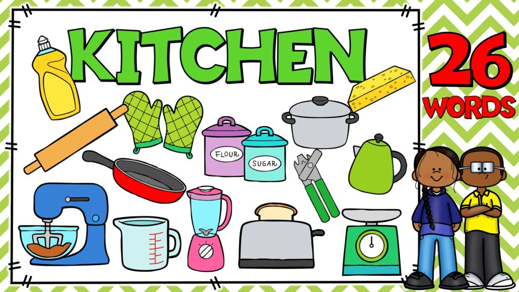 cosas de la cocina en ingles
