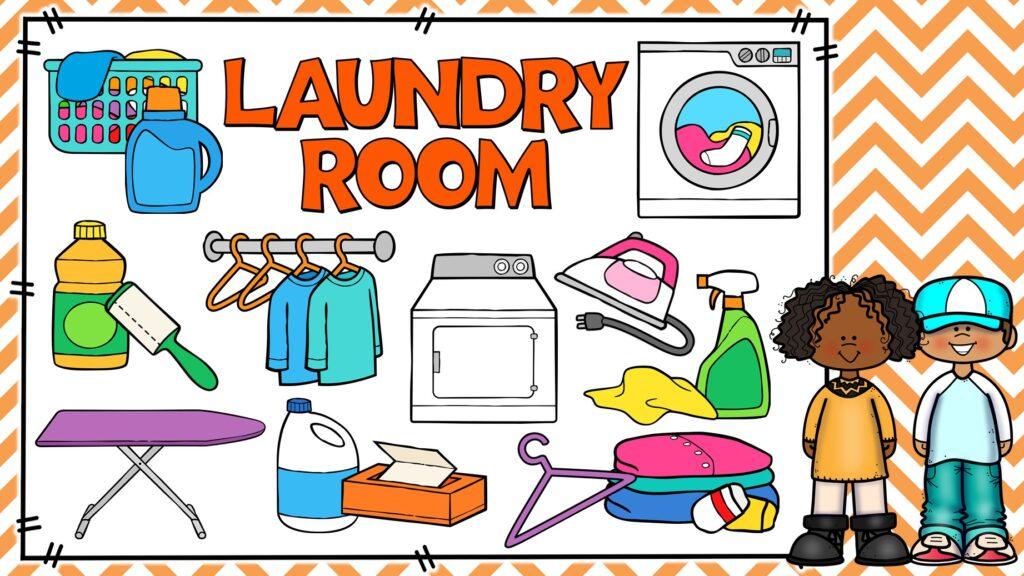 cosas de lavado de ropa en ingles y español