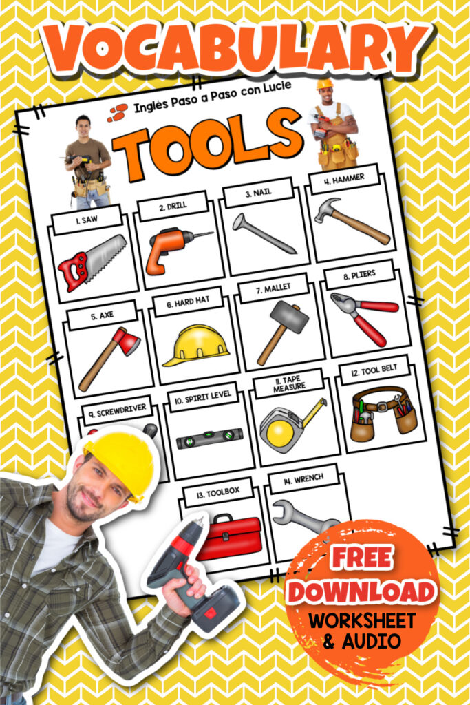 nombres de herramientas en ingles y español