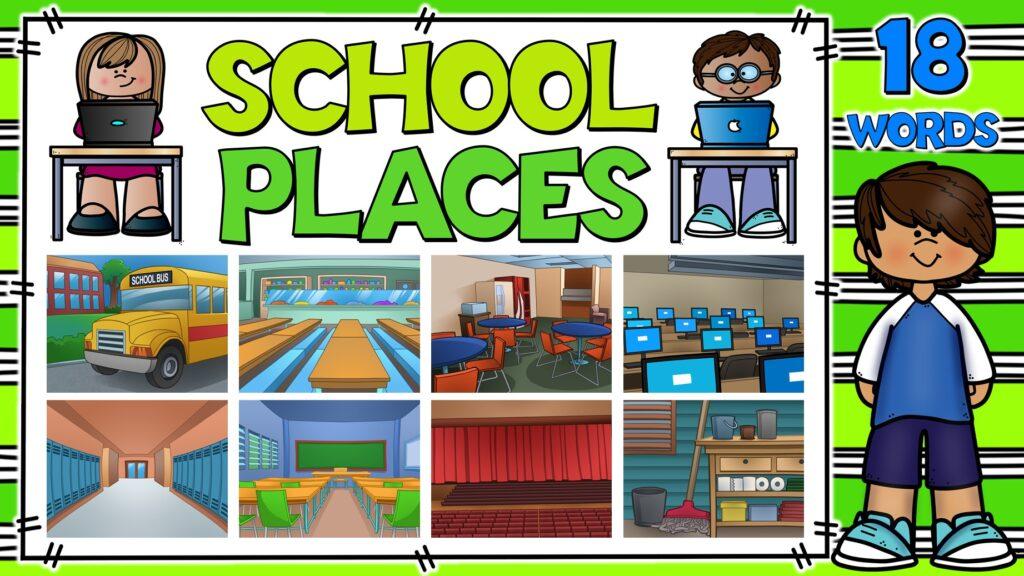 lugares de la escuela en inglés
