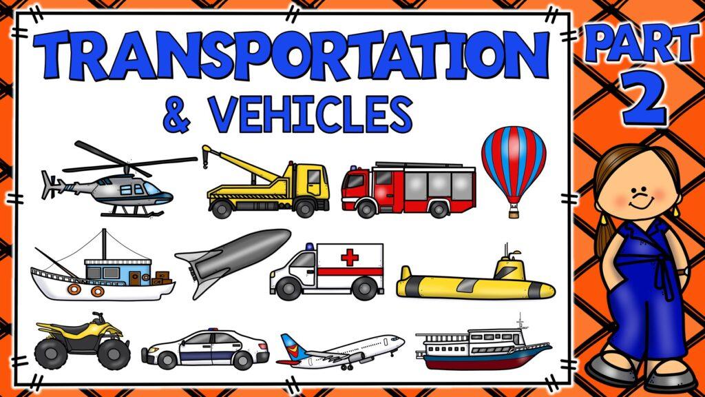 medios de transporte en inglés y español
