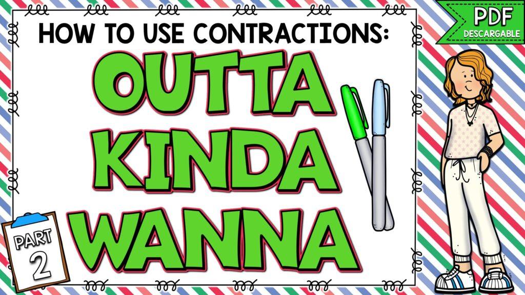 contracciones informales en inglés