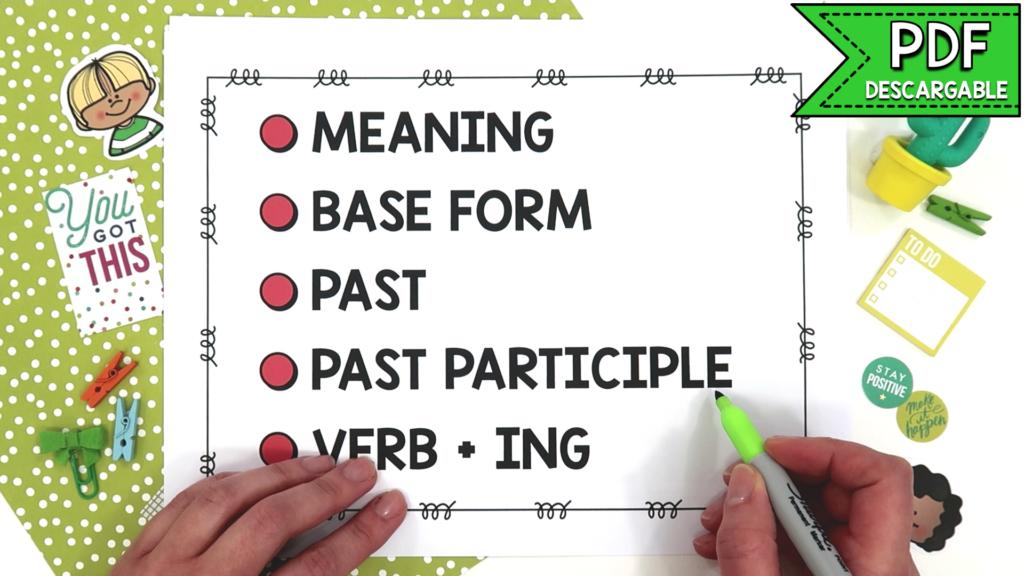 verbos irregulares en inglés