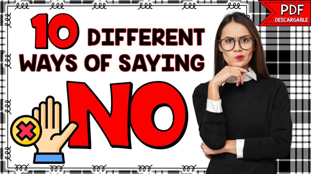 diferentes formas de decir no en inglés