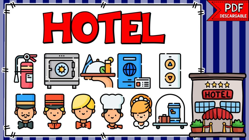 objetos que encuentras en un hotel en ingles