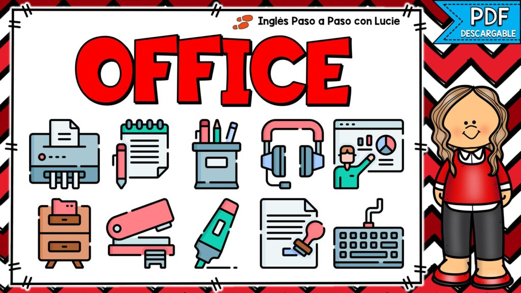 palabras de oficina en inglés y español