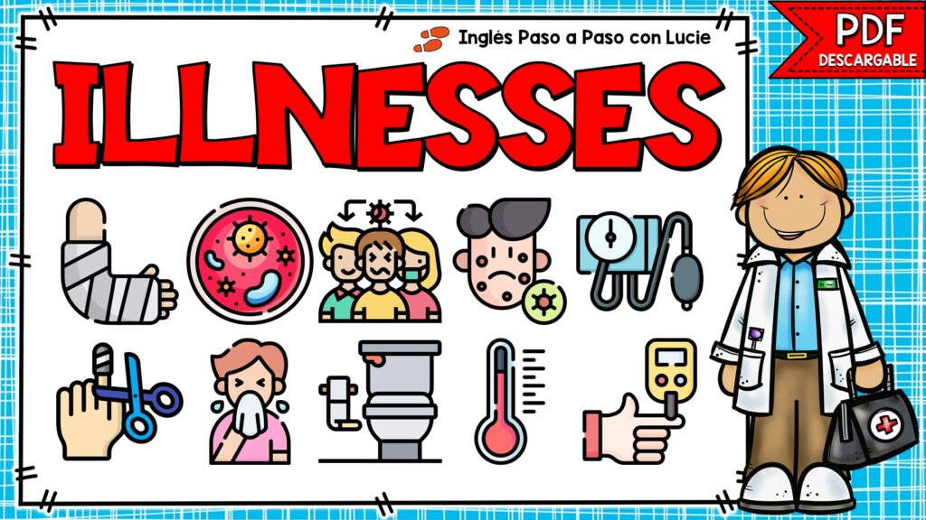 enfermedades y síntomas en inglés
