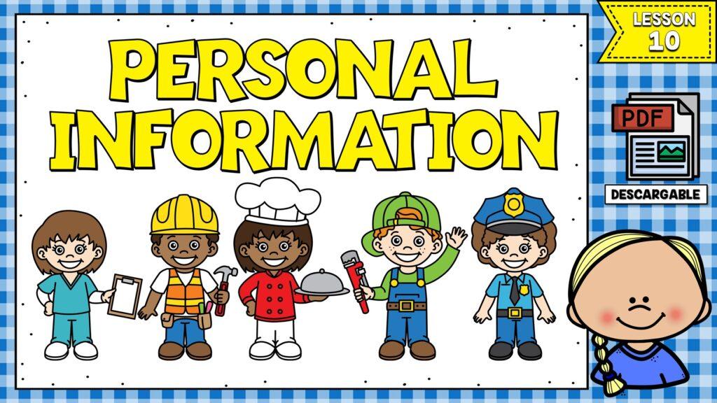 cómo dar información personal en inglés