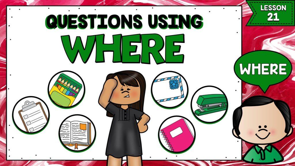 preguntas en inglés usando where