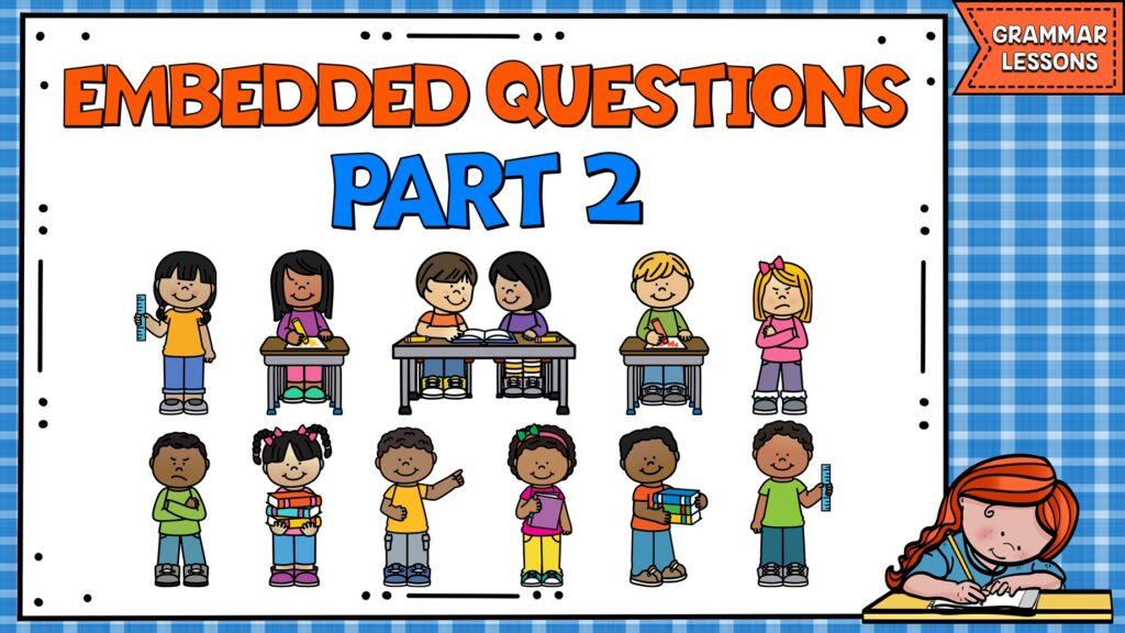 ejercicio de embedded questions en inglés