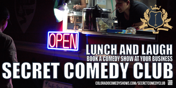 Secret Comedy Club - Lunch and Laugh