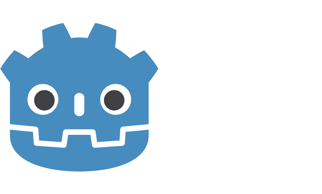 Godot Logo with scene structure text