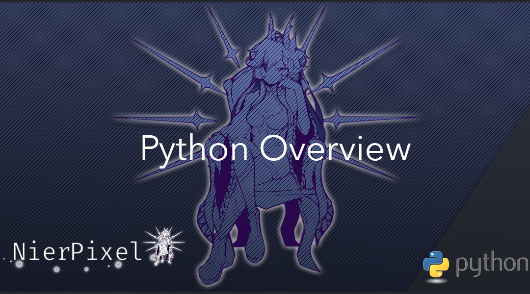 A picture showcasing python overview