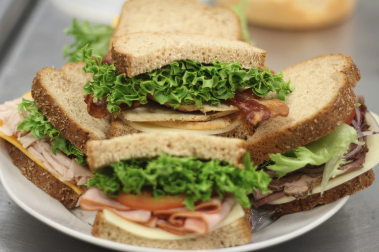 Close up photo of sandwich