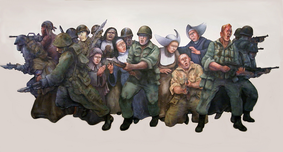 Jim Allen's Monumental Protest Against War