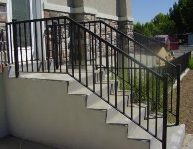 exterior step railing