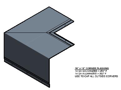 Oven Corner Flashing Component