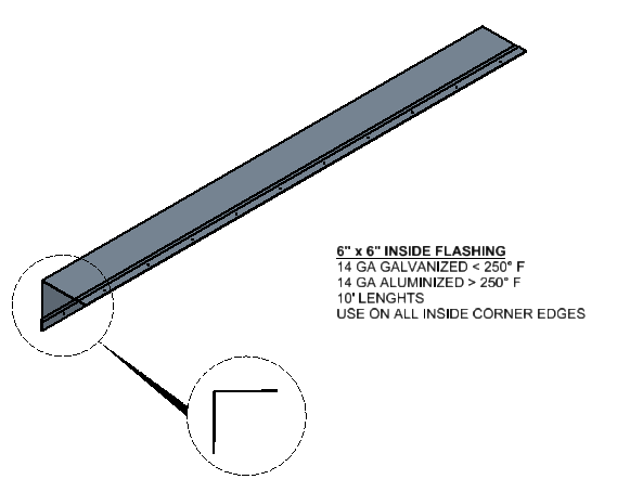 Oven Inside Flashing Component