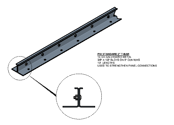 2 Inch T-Bar Connection