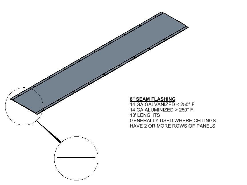 Oven Seam Flashing