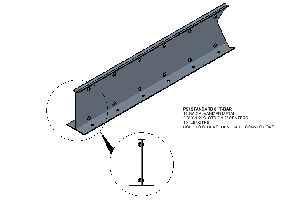 8 Inch T-Bar Connection