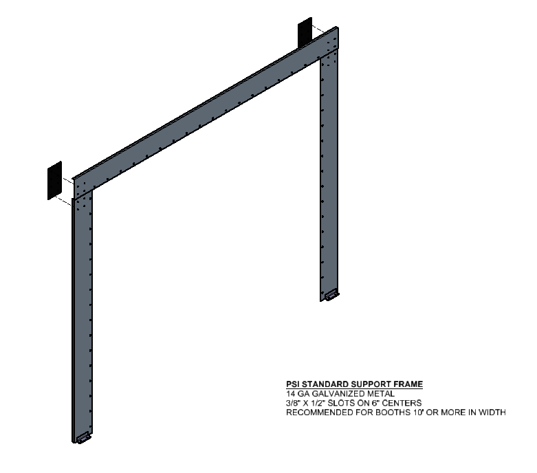 Booth Support Frame