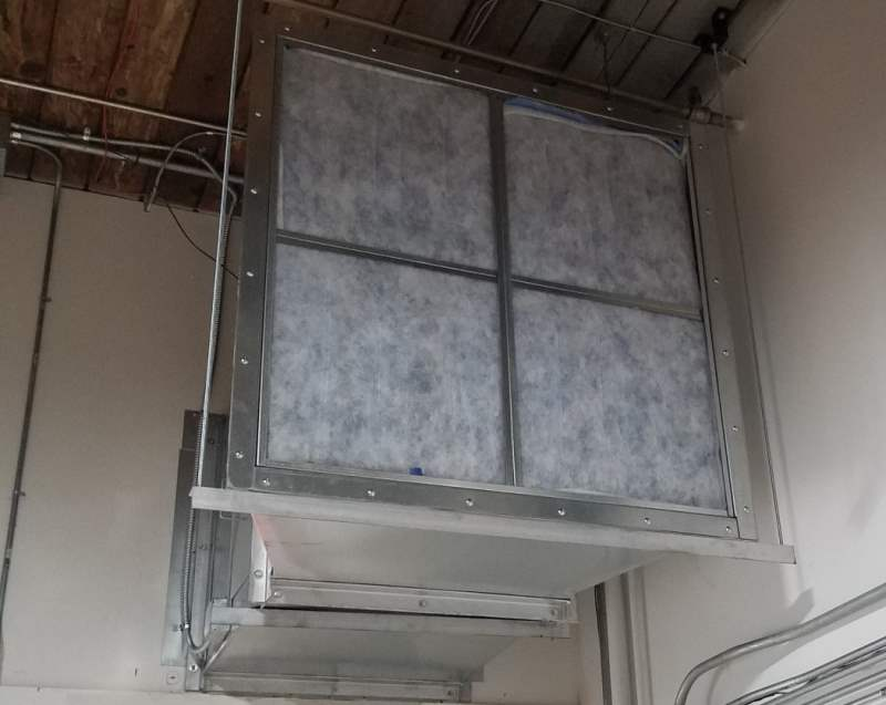 Open Faced Dry Filter Paint Booth